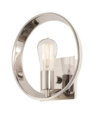 Elstead Lighting Quoizel Theater Row Imperial Silver Wall Light