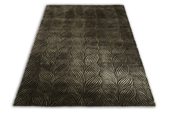 Front Braid Olive Gold Rug