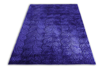 Front Braid Purple Rug