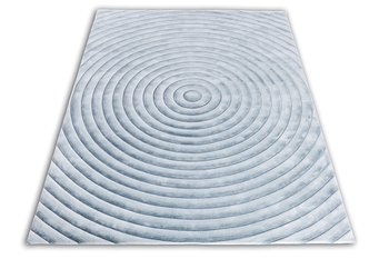 Front Circle Gradient Silver/Blue Rug