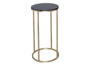 Gillmore Space Kensal Black and Brass Circular Lamp Stand