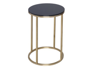 Gillmore Space Kensal Black and Brass Circular Side Table
