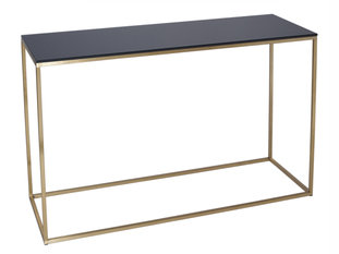 Gillmore Space Kensal Black and Brass Console Table