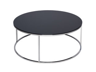 Gillmore Space Kensal Black and Steel Circular Coffee Table