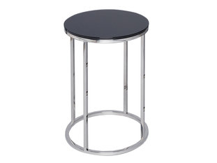 Gillmore Space Kensal Black and Steel Circular Side Table