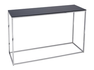 Gillmore Space Kensal Black and Steel Console Table
