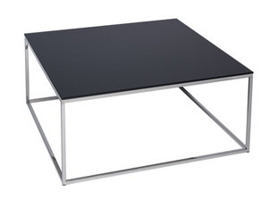 Gillmore Space Kensal Black and Steel Square Coffee Table