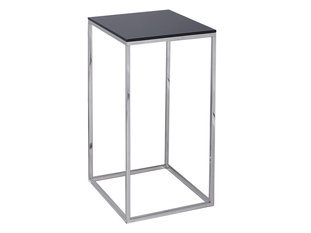 Gillmore Space Kensal Black and Steel Square Lamp Stand