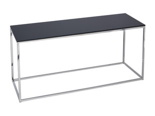 Gillmore Space Kensal Black and Steel TV Stand