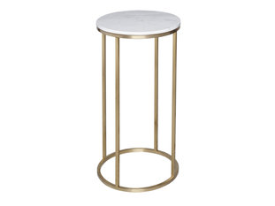 Gillmore Space Kensal Marble and Brass Circular Lamp Stand