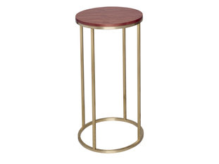 Gillmore Space Kensal Walnut and Brass Circular Lamp Stand