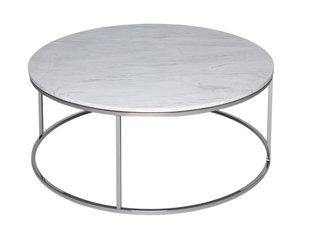 Gillmore Space Kensal Marble and Steel Circular Coffee Table