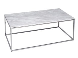 Gillmore Space Kensal Marble and Steel Rectangle Coffee Table
