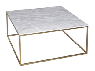 Gillmore Space Kensal Marble and Brass Square Coffee Table