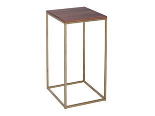 Gillmore Space Kensal Walnut and Brass Square Lamp Stand
