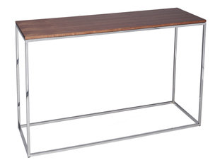 Gillmore Space Kensal Walnut and Steel Console Table