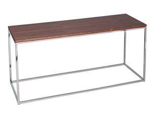 Gillmore Space Kensal Walnut and Steel TV Stand