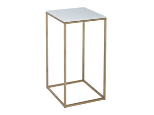 Gillmore Space Kensal White and Brass Square Lamp Stand
