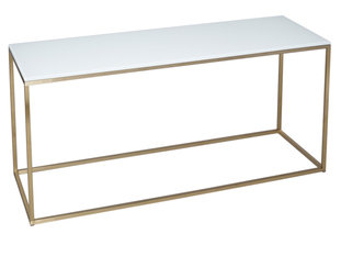 Gillmore Space Kensal White and Brass TV Stand
