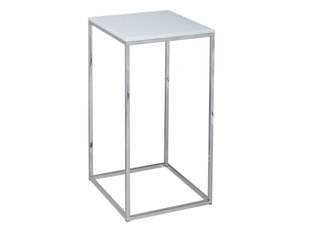 Gillmore Space Kensal White and Steel Square Lamp Stand