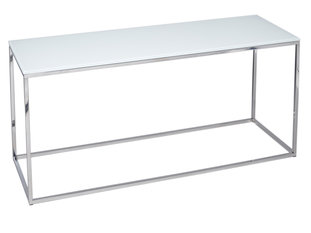 Gillmore Space Kensal White and Steel TV Stand