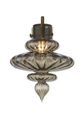Heathfield Basilica Antique Brass Smoke Pendant