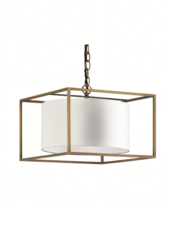 Heathfield Derwent Brass Cube Medium Pendant