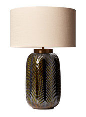 Heathfield Fern Khaki Table Lamp