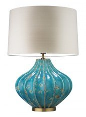 Heathfield Mallory Turquoise Table Lamp