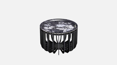 IBride Brushed Black Medusa 46 Outdoor Coffee Table & Sapphire Tray