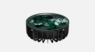 IBride Brushed Black Medusa 65 Outdoor Coffee Table & Emerald Tray