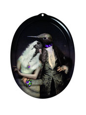 ibride Galerie De Portraits Oval Le Boudoir The Lovebirds Tray