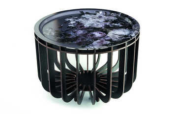 I Bride Medusa Black with Grey Tray Coffee Table