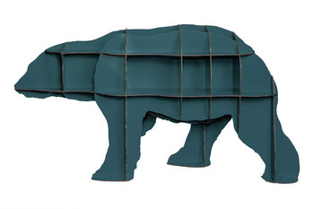 ibride Mobilier De Compagnie Ibex Wall Storage- Bear Junior Blue