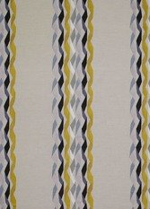 James Hare Carnival Stripe Yellow Fabric