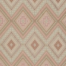 James Hare Fuji Natural/Dusky Rose Fabric
