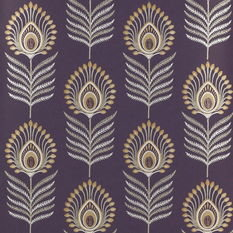 Jane Churchill Sula Amethyst/Gold Wallpaper
