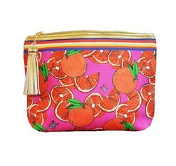 "Jessica Russel Flint Classic Make Up Bag / ""The Oranges"""