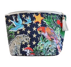 "Jessica Russel Flint Giant Washbag / ""The Parrot & Stars"""