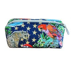 "Jessica Russel Flint Mini Make Up Bag/ ""The Parrot & Stars"""