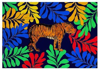 "Jessica Russel Flint Set of Greetings Cards / ""The Classic Tiger"""