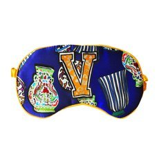 "Jessica Russel Flint Silk Eye Mask / ""V"""