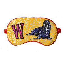 "Jessica Russel Flint Silk Eye Mask / ""W"""