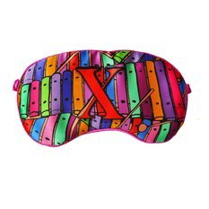 "Jessica Russel Flint Silk Eye Mask / ""X"""