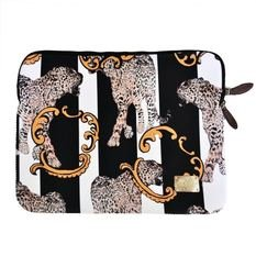 Jessica Russel Flint Striped Leopard Laptop/Macbook Case