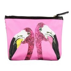 "Jessica Russel Flint The ""Loved Up Flamingo's"" Classic Make Up Bag"