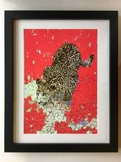 "Jessica Russel Flint ""The Pouncing Leopard"" Limited Edition Print"