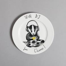Jimbobart DJ Badger Side Plate