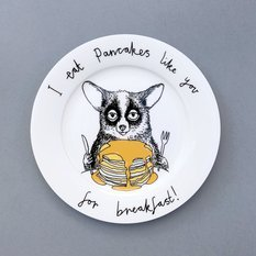 Jimbobart I Eat Pancakes Like You For Breakfast Side Plate