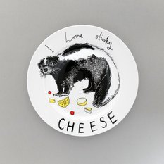 Jimbobart I Love Stinky Cheese Side Plate